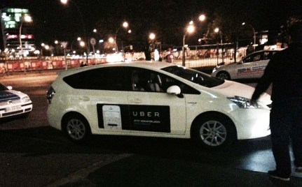 uber ad on taxi in germany